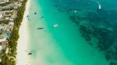 Boracay island with white sandy beach, Philippines