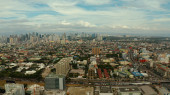 Manila, the capital of the Philippines aerial view.