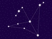Aquila constellation Starry night sky Cluster of stars and galaxies Deep space Vector illustration