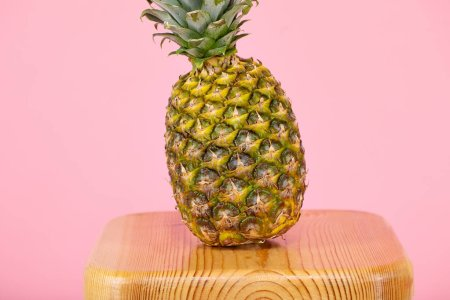 Photo for Pineapple on a pink background - Royalty Free Image