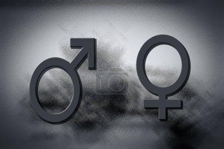 Photo pour Symboles masculins et féminins illustration numérique - image libre de droit