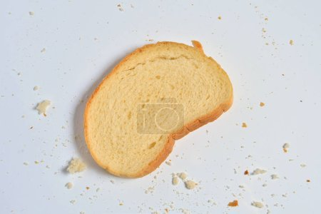 Photo for A piece of white bread, close up - Royalty Free Image