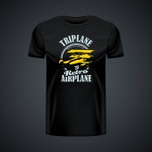 Vintage t-shirt template with Airplane logo