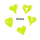 Hearts green eco bio