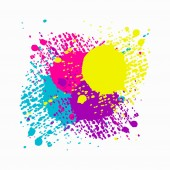 colored blots icon Flat isolated illustration for your web design