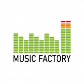 Vector logo music industry Graphic equalizer in the shape of a