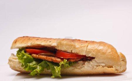 Gros plan sur un délicieux sandwich hamburger