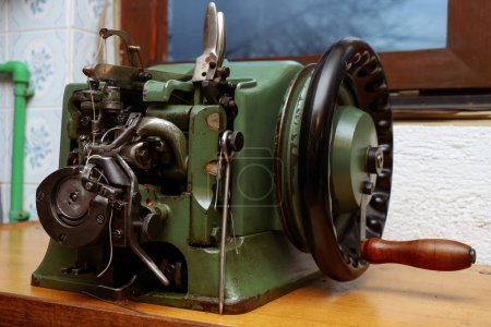 Photo for Retro sewing machine, old tools for craft - Royalty Free Image