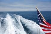 City and Ventura coats line s seen from a speeding toward ocean cruise ship, Southern Californi