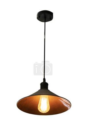 Vintage lamp isolated on white background.