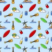 Seamless pattern  of holiday beach theme