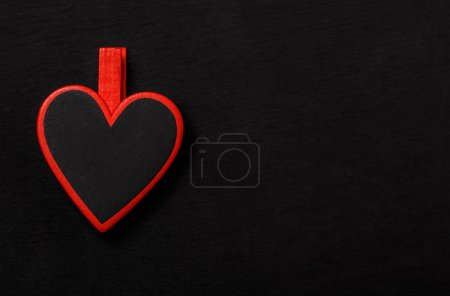 Photo for Black heart with red border - Royalty Free Image