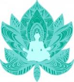 Yoga healthy lifestyle illustration