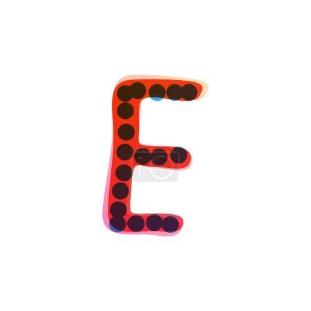 E lettre logo manuscrit avec un stylo feutre rouge. Icône vectorielle parfaite pour la conception des enfants, emballage artisanal drôle, étiquettes mignonnes, etc..
