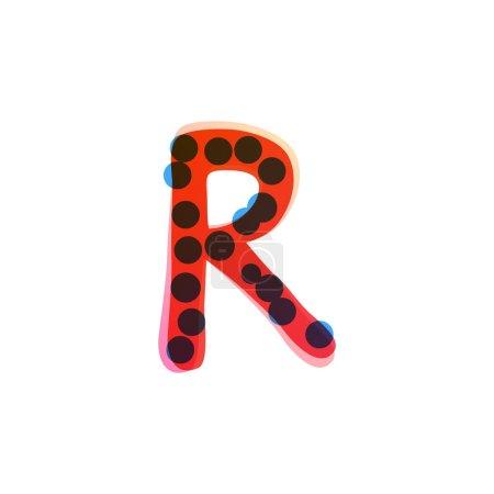 Logo de lettre R écrit à la main avec un stylo feutre rouge. Icône vectorielle parfaite pour la conception des enfants, emballage artisanal drôle, étiquettes mignonnes, etc..
