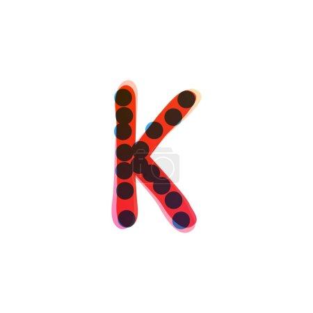 K lettre logo manuscrit avec un stylo feutre rouge. Icône vectorielle parfaite pour la conception des enfants, emballage artisanal drôle, étiquettes mignonnes, etc..
