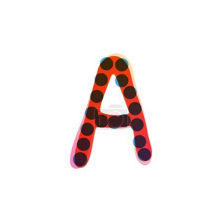 Lettre A logo manuscrit avec un stylo feutre rouge. Icône vectorielle parfaite pour la conception des enfants, emballage artisanal drôle, étiquettes mignonnes, etc..