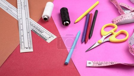 Photo for Sewing kit on the table - Royalty Free Image