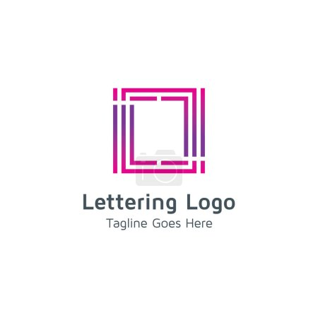 Lettering O design Vector logo