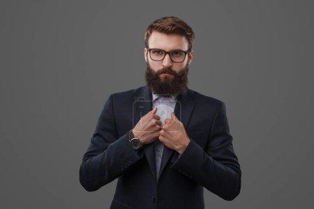 Serious man in formal wear