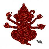 Genesha pattern silhouette traditional religion spirituality