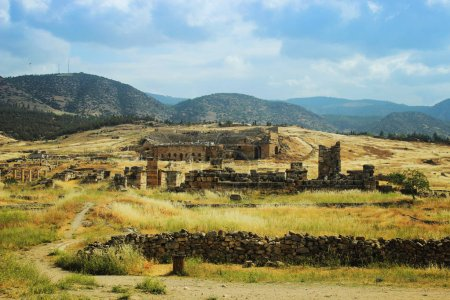 Ancient theater in Hierapolis Front