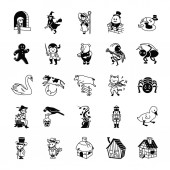 25 Fairy Tale II glyph vector icons