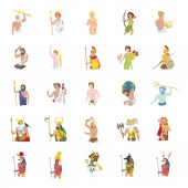 25 Ancient Gods color vector icons