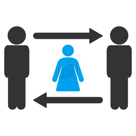 Persons Woman Exchange Raster Icon