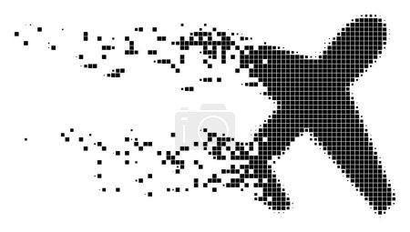 Airplane Moving Pixel Icon