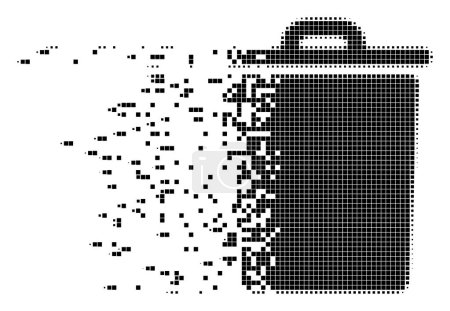 Trash Bin Dispersed Pixel Icon