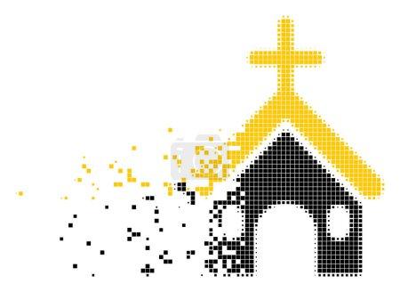 Christian Church Moving Pixel Icon