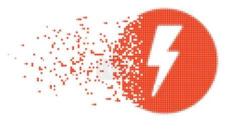 Electricity Dissolved Pixel Icon