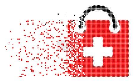 First Aid Kit Burst Pixel Icon
