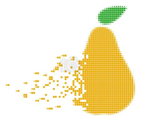 Pear Disappearing Pixel Icon