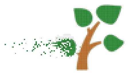 Plant Tree Shredded Pixel Icon