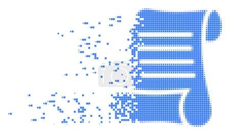 Script Roll Dispersed Pixel Icon