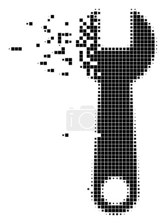 Wrench Fragmented Pixel Icon