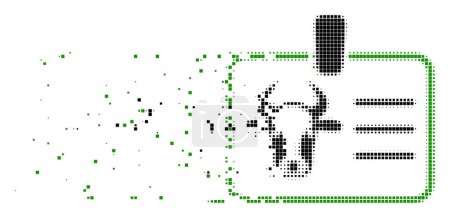 Cow Badge Shredded Pixel Icon