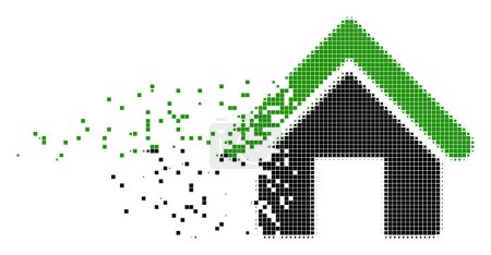 House Destructed Pixel Icon