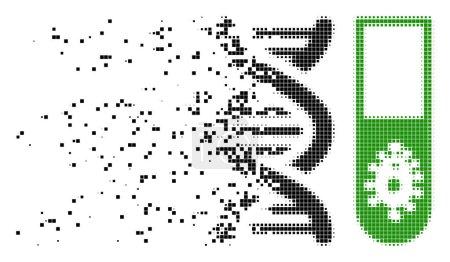 Hitech Microbiology Dissolving Pixel Icon