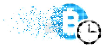 Bitcoin Credit Clock Shredded Pixel Icon