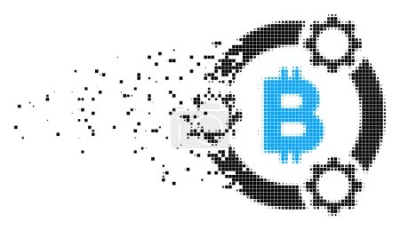 Bitcoin Pool Collaboration Dust Pixel Icon