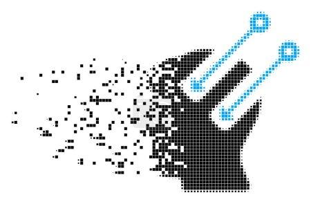 Neural Interface Broken Pixel Icon