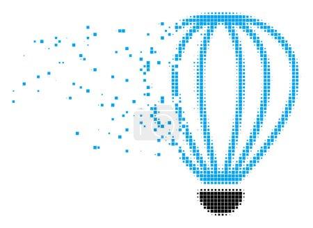 Aerostat Dissolving Pixel Icon