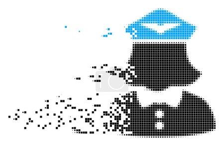 Airline Stewardess Fractured Pixel Icon