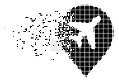 Airport Marker Erosion Pixel Icon