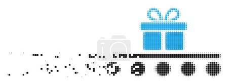 Baggage Transportation Dust Pixel Icon