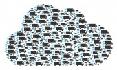Cloud Figure of Fast Delivery Car Icons