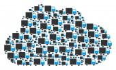 Cloud Figure of Shipment Van Icons